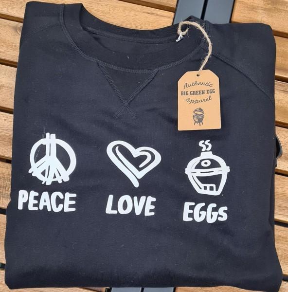 "Pullover ""Peace Love &Eggs"""
