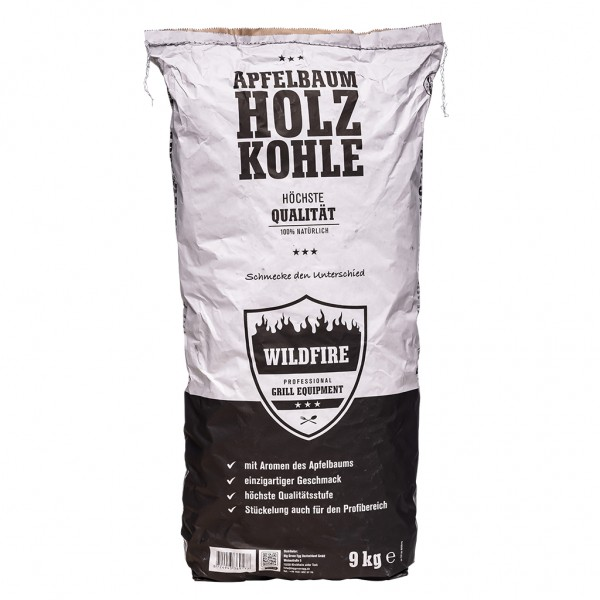 Wildfire Holzkohle vom Apfelbaum 9kg