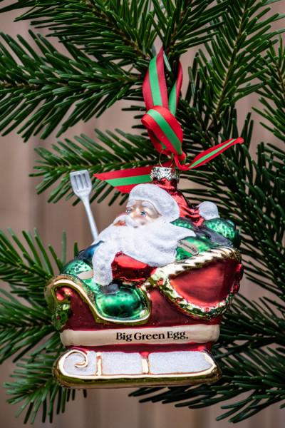 """Weihnachtskugel """"Weihnachtsmann mit Schlitten"""""""